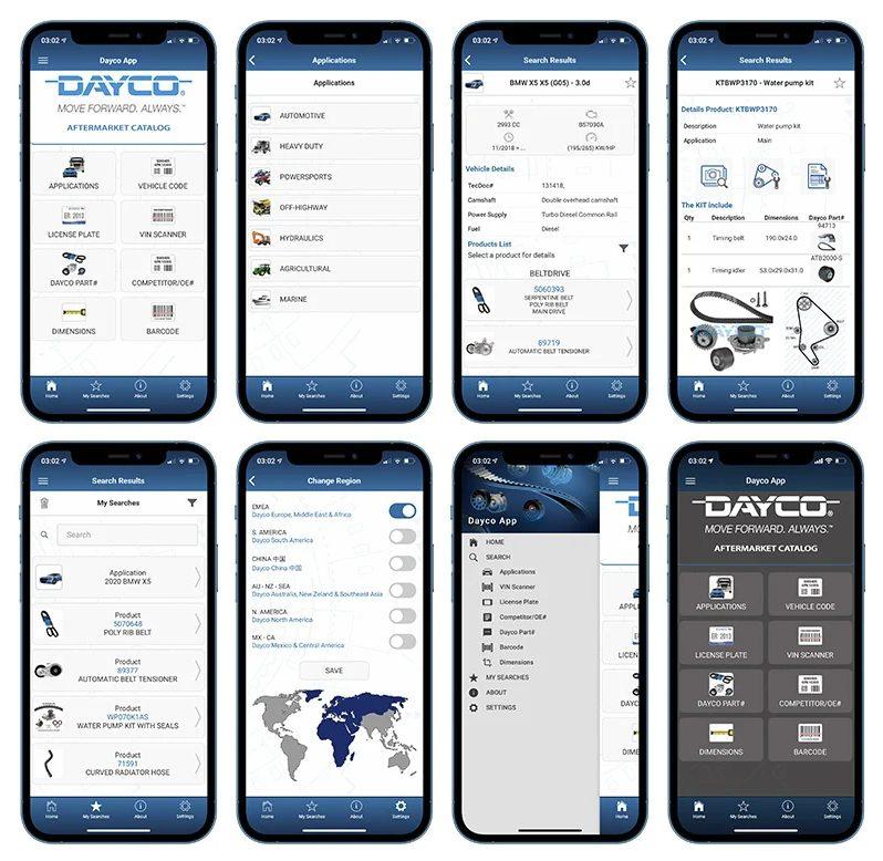 Dayco App 7.0 KFZ-NFZ autoteile