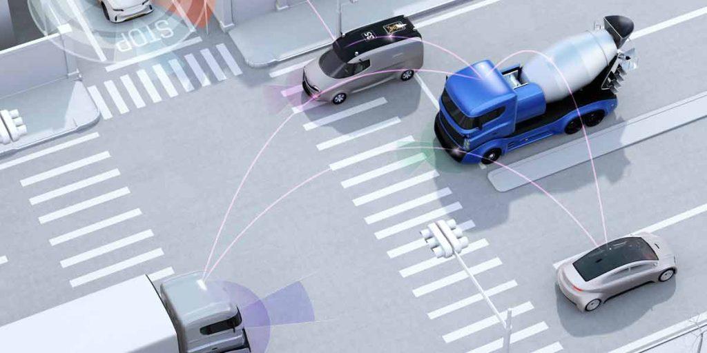 Autonomes Fahren der Fahrzeuge auf der Straße