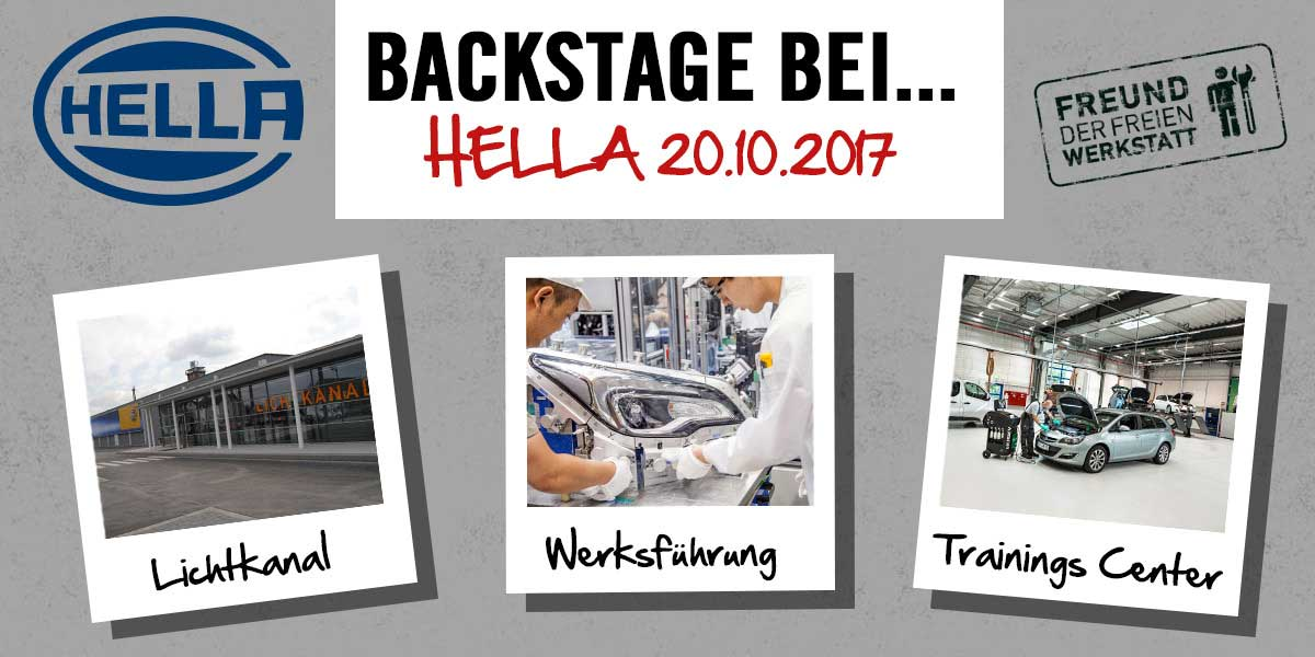 Backstage bei Hella