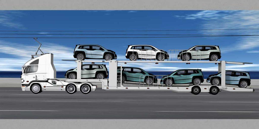 QiM Elektroautos werden verladen