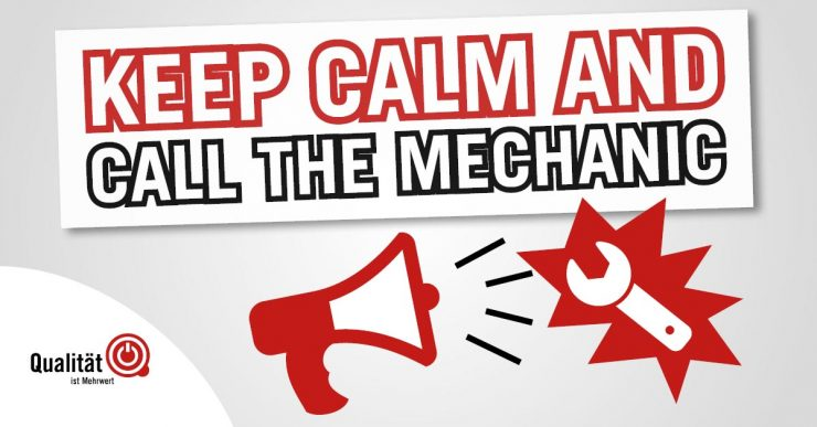 Facebook Vorlage kostenlos herunterladen: Keep calm and call the mechanic