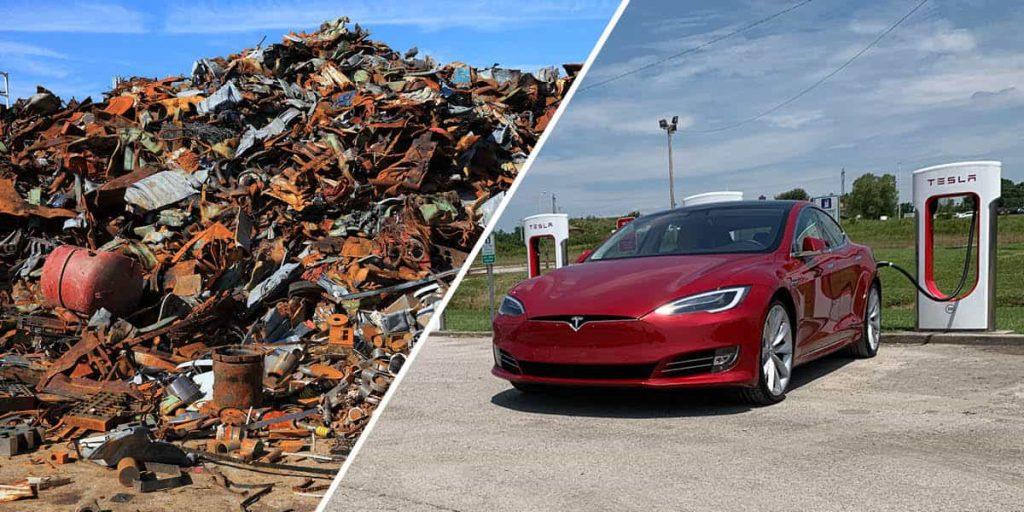 Elektroschrott und Elektroauto Tesla
