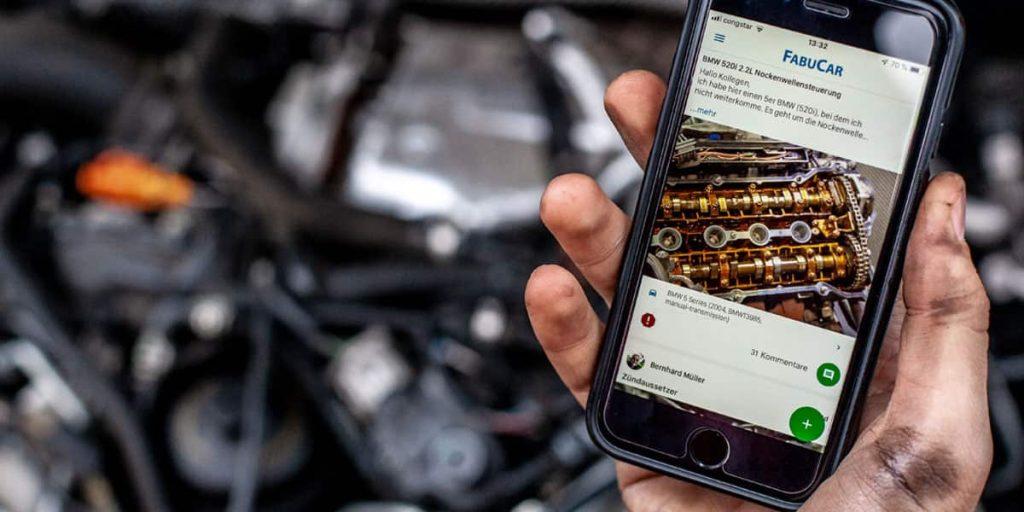 Fabucar App für Werkstätte erstellt von den Autodoktoren
