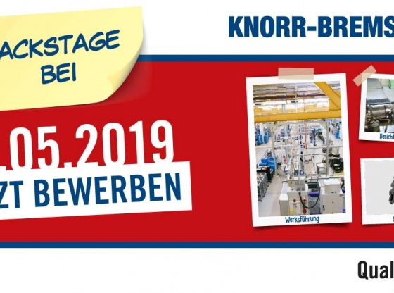 Backstage bei Knorr-Bremse Mai 2019