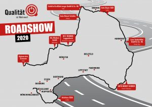 Routengrafik Roadshow 2020