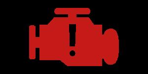 Kontrollleuchten und Warnleuchten im Auto - Rot Motorkontrolleuchte