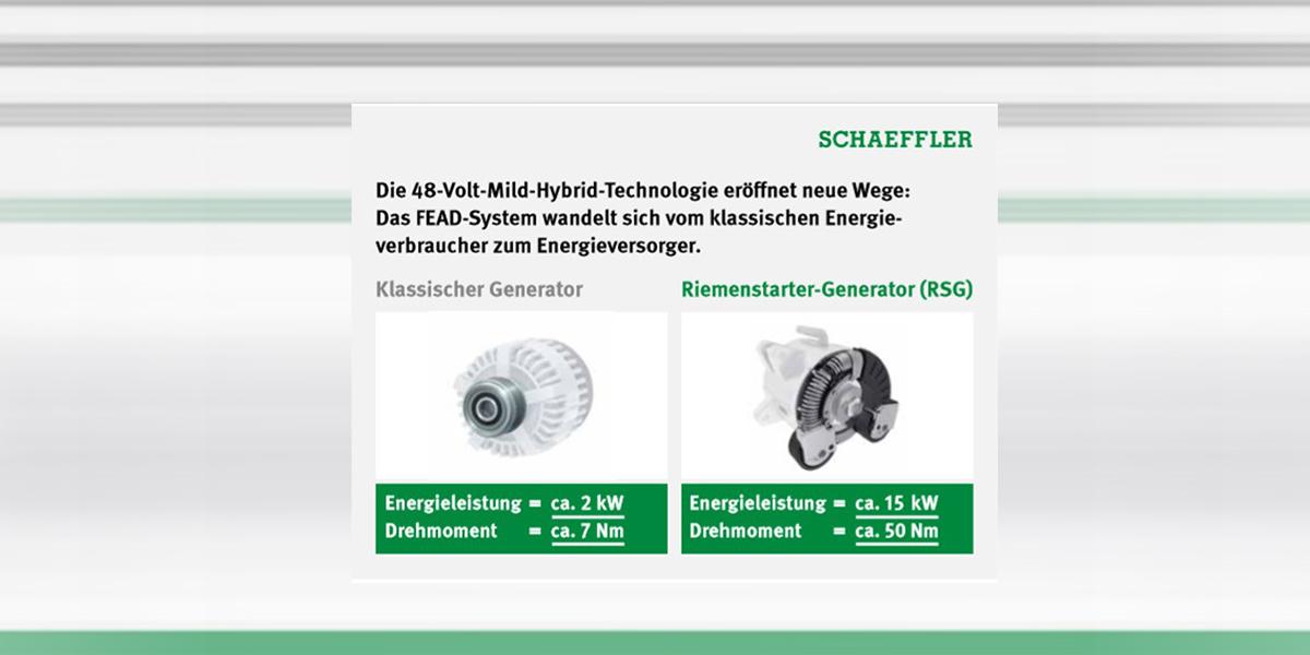 Schaeffler zeigt Unterschied normalen Generator zu Riemenstartergenerator